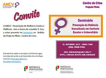 """Seminário """"Prevenção da Violência Sexualizada em Contexto Escolar e Universitário"""""""